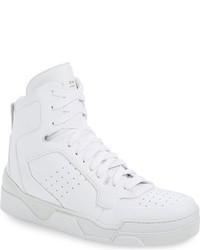 Zapatillas altas de cuero blancas de Givenchy