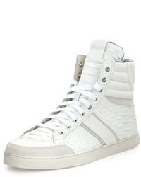 Zapatillas altas de cuero blancas de Just Cavalli