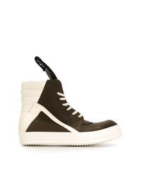 Zapatillas altas de cuero en multicolor de Rick Owens
