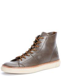 Zapatillas altas de cuero grises de Frye