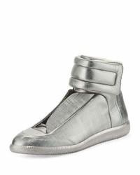 Zapatillas altas de cuero grises de Maison Margiela