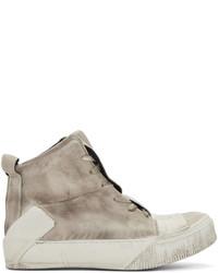 Zapatillas altas de cuero marrón claro de Boris Bidjan Saberi