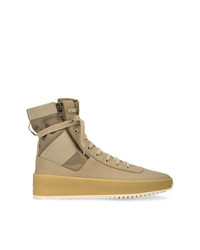 Zapatillas altas de cuero marrón claro de Fear Of God