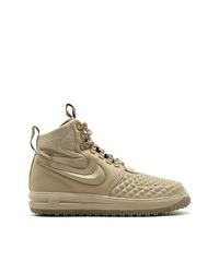 Zapatillas altas de cuero marrón claro de Nike