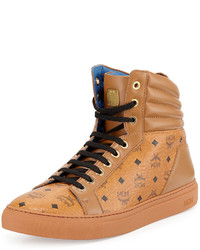 Zapatillas altas de cuero marrónes de MCM
