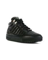 Zapatillas altas de cuero negras de Baldinini
