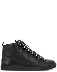 Zapatillas altas de cuero negras de Balenciaga