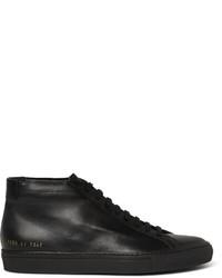Zapatillas altas de cuero negras de Common Projects