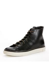 Zapatillas altas de cuero negras de Frye