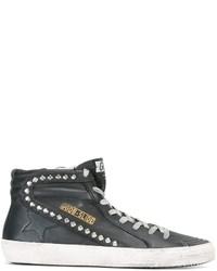 Zapatillas altas de cuero negras de Golden Goose Deluxe Brand