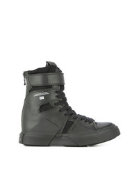 Zapatillas altas de cuero negras de Julius