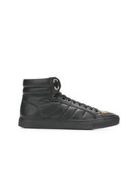 Zapatillas altas de cuero negras de RH45