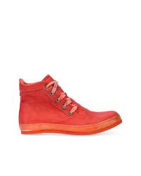 Zapatillas altas de cuero rojas de A Diciannoveventitre