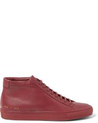 Zapatillas altas de cuero rojas de Common Projects
