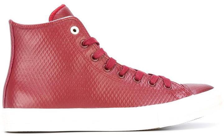 zapatillas converse de cuero rojas