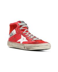 Zapatillas altas de cuero rojas de Golden Goose Deluxe Brand