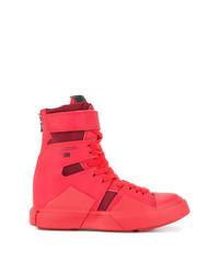 Zapatillas altas de cuero rojas de Julius