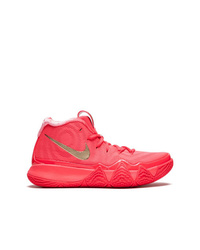 Zapatillas altas de cuero rojas de Nike