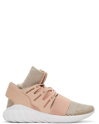 Zapatillas altas de cuero rosadas