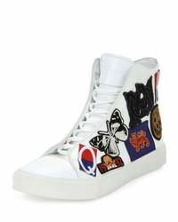 Zapatillas altas de lona blancas de Alexander McQueen