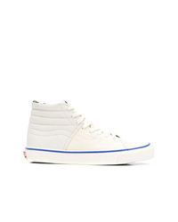 Zapatillas altas de lona blancas de Vans