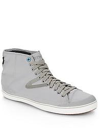 Zapatillas altas de lona grises