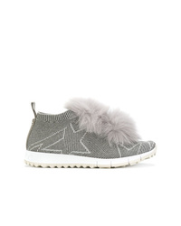 Zapatillas altas de lona grises de Jimmy Choo