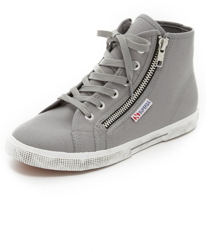 Superga Sneakers Altas - Gris Y Azul Precio realmente barato Para la venta Footlocker Precio al por mayor de liquidación Outlet Footlocker Imágenes iL8oA