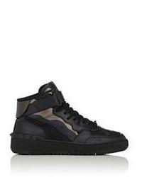Zapatillas altas de lona negras