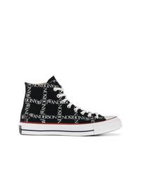 Zapatillas altas de lona negras de Converse X JW Anderson