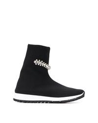 Zapatillas altas de lona negras de Jimmy Choo