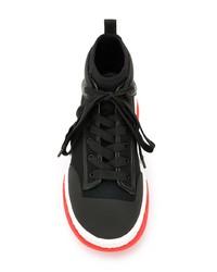 Zapatillas altas de lona negras de Alexander Wang