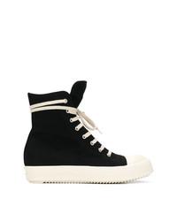 Zapatillas altas de lona negras de Rick Owens DRKSHDW