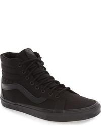 zapatillas vans altas negras