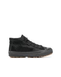 Zapatillas altas de lona negras de Vans