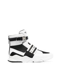 Zapatillas altas en blanco y negro de Balmain