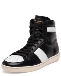 Zapatillas altas en negro y blanco de Saint Laurent