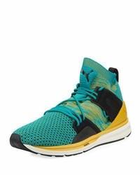 Zapatillas altas en verde azulado