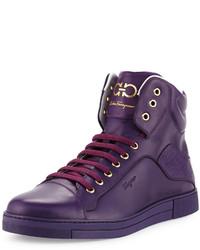 Zapatillas altas en violeta