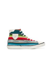 Zapatillas altas estampadas en multicolor de Saint Laurent