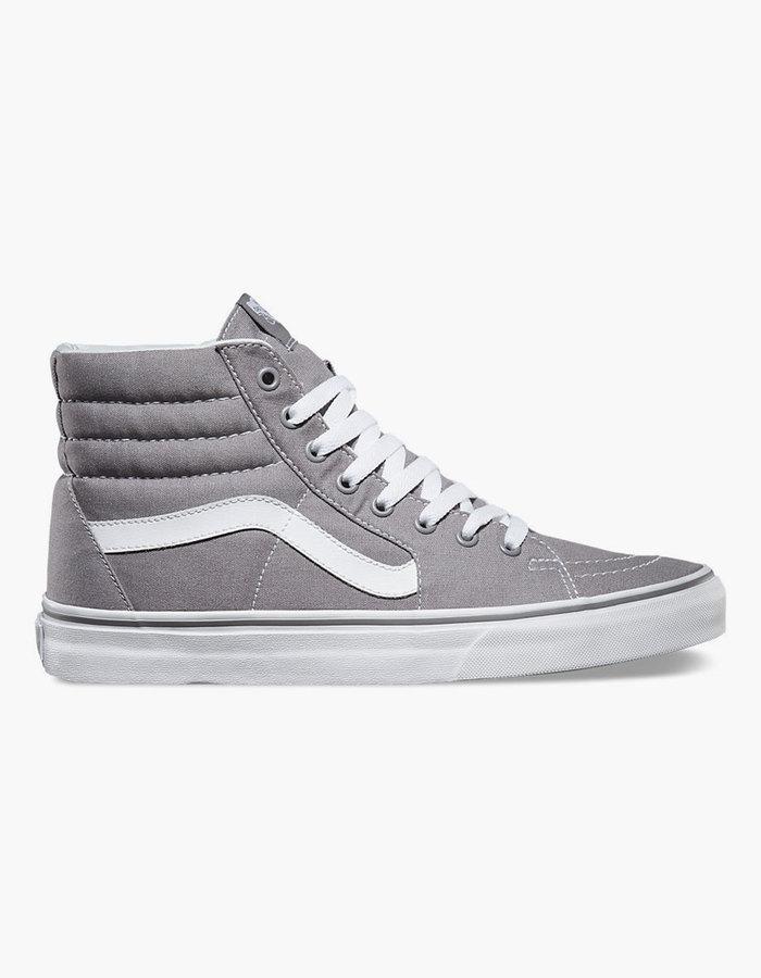 vans altas grises