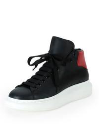 Zapatillas altas negras de Alexander McQueen