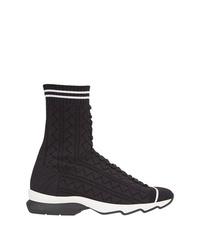 Zapatillas altas negras de Fendi