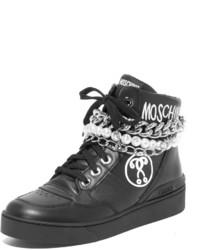 Zapatillas altas negras de Moschino