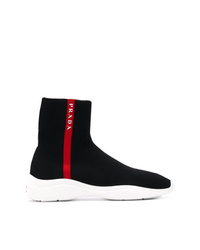 Zapatillas altas negras de Prada
