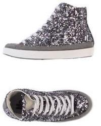 Zapatillas altas plateadas
