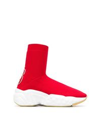 Zapatillas altas rojas de Acne Studios