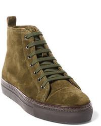 Zapatillas altas verde oliva