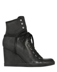 Zapatillas con cuña de cuero negras de See by Chloe
