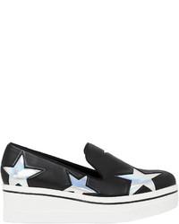 Zapatillas con Cuña de Cuero Negras de Stella McCartney